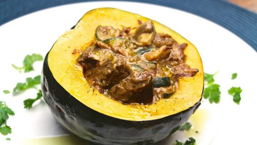 Bison stew with acorn squash