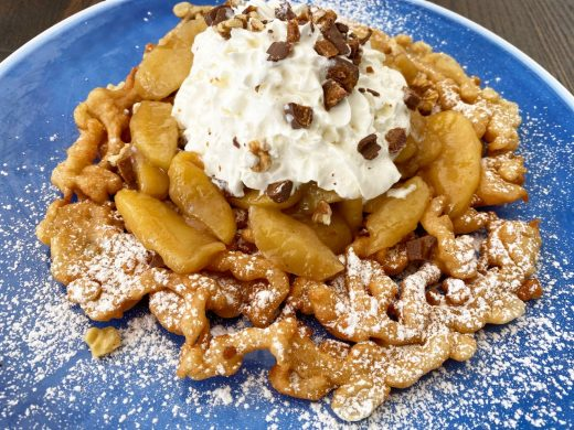 Cinnamon apple funnel cake