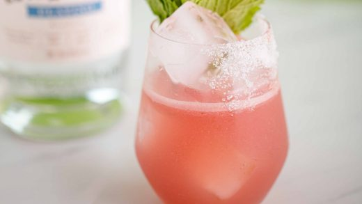 Summer watermelon mint margarita