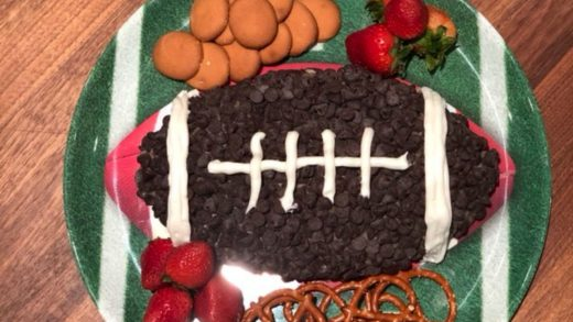 Cookies and cream cheese football