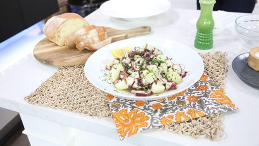 Octopus and lemony potato salad