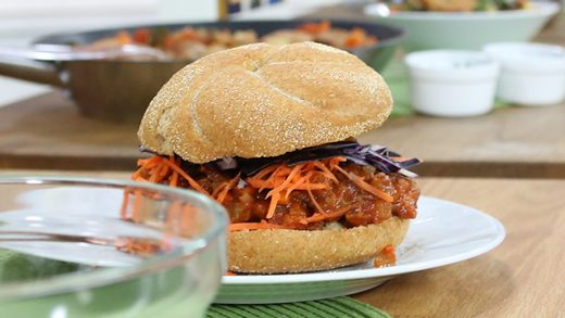 Veggie sloppy joe with slaw