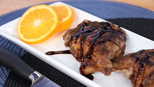 Duck legs with balsamic glaze