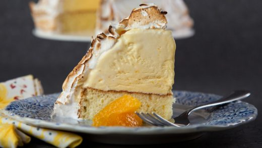 Orange-vanilla baked Alaska