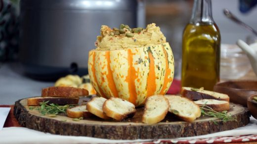 Butternut squash and harissa hummus