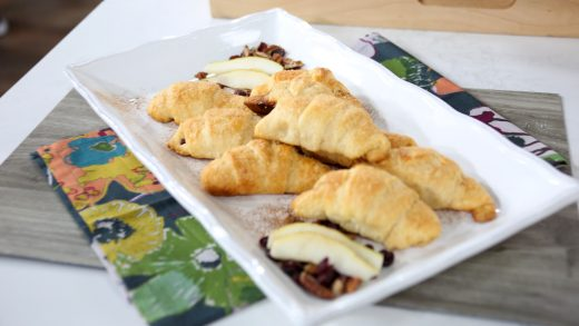 Pear cranberry pecan crescent