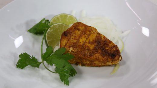 South Indian fried fish (Meen Varuval)
