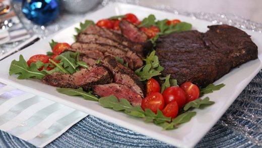 Coffee spice rubbed steak