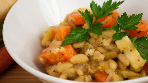 Vegetable cassoulet with herbes de provence