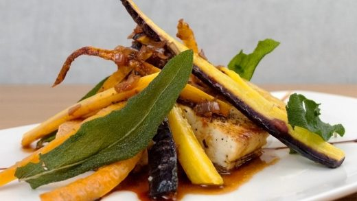 Heirloom carrots with rosemary balsamic demi glace