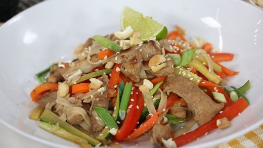 Sweet and spicy pork stir fry
