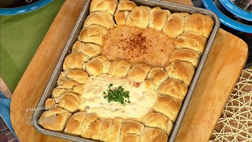 Party bread with New England lobster cheese dip and Philadelphia hoagie dip