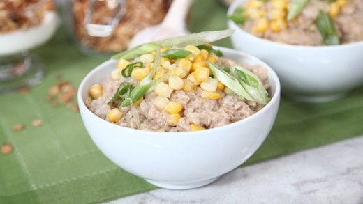 Corn and scallion oatmeal