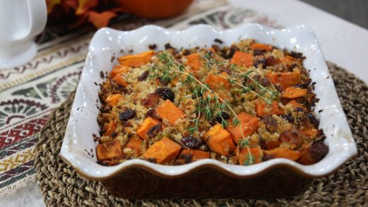 Clodagh's sweet potato, pancetta, and pecan stuffing