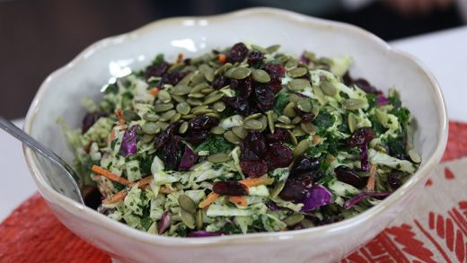 Thanksgiving slaw with kale and cabbage