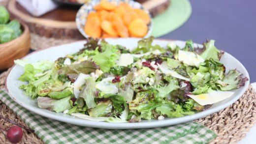 Charred Brussels sprouts salad