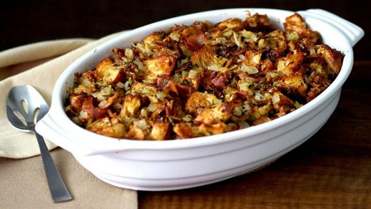 Bacon and onion croissant stuffing