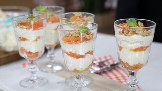 Citrus parfaits with mascarpone and ricotta cheese