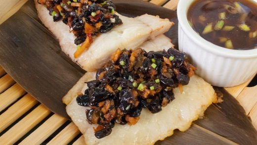 Bamboo steamed haddock with garlic and black beans