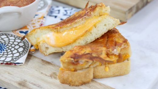 Super crispy and cheesy grilled cheese