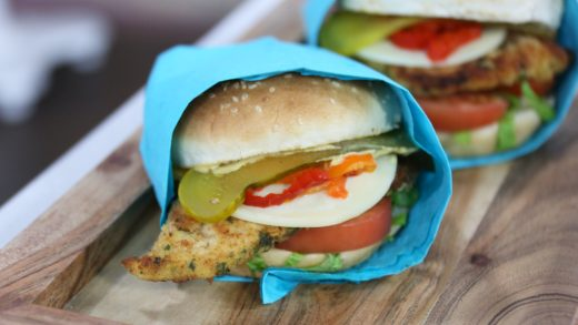 Lemon and provolone chicken cutlet sandwiches