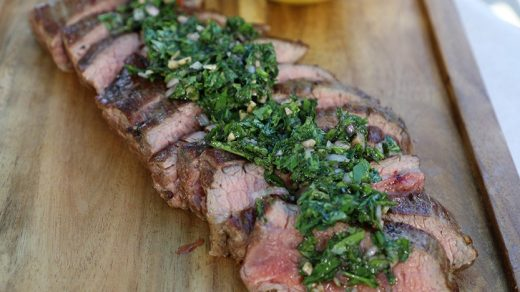 Vacio steak with chimichurri