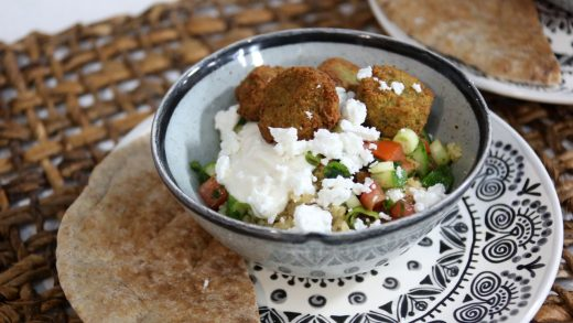 Falafel bowl with all the fixings