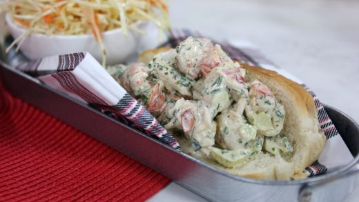 Lobster roll with slaw