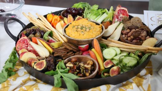 Plant-based charcuterie board
