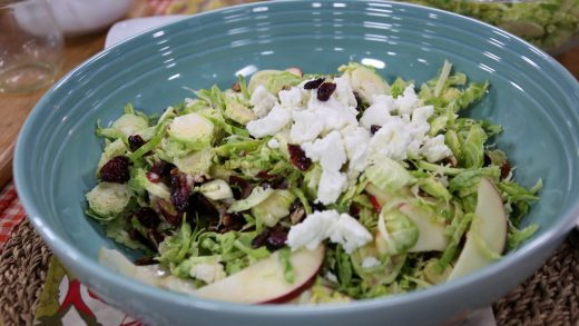Quick and easy Brussels sprouts and apple slaw
