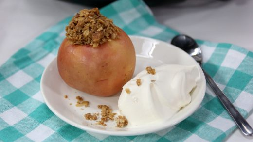 Slow cooker baked apple
