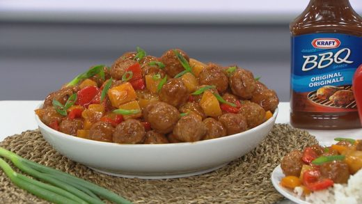 Sweet and tangy pineapple meatballs