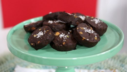 Festive slice and bake chocolate cookies