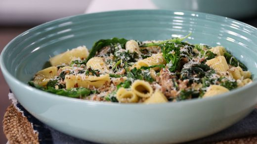 Rigatoni with homemade sausage and broccoli rabe