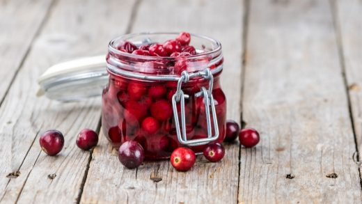 Pickled cranberries