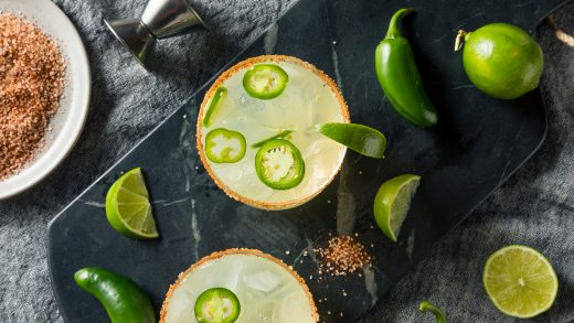 Jalapeño-infused margarita