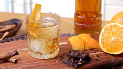 Smoked chocolate old fashioned