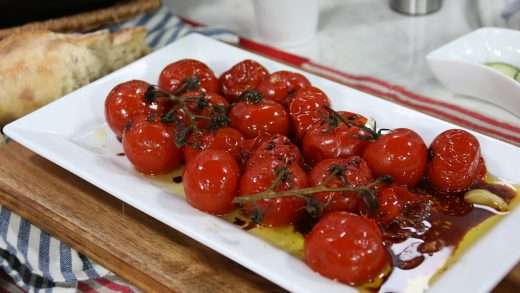Roasted tomatoes in oil and balsamic vinegar