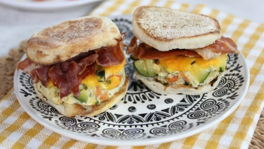 Vegetable frittata breakfast sandwich