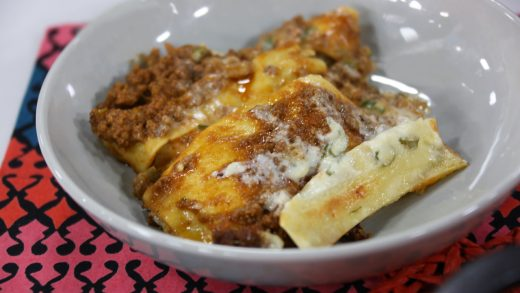 Lasagna with an Indian twist