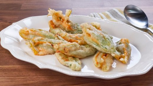 Pimento cheese stuffed zucchini blossoms