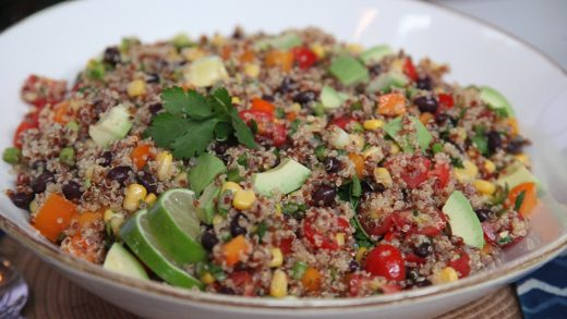 Tex-mex quinoa salad with chili-lime dressing