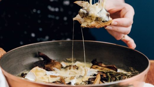 Herbed mushroom and camembert skillet