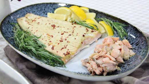Slow-roasted salmon with tarragon-chive mayonnaise