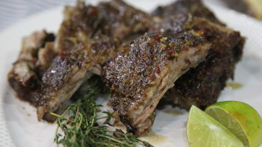 Honey-jerk pork ribs