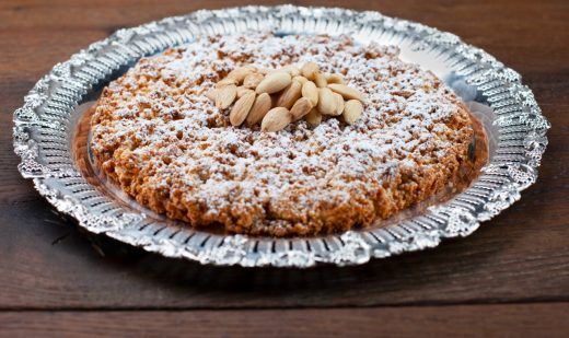 Giant almond crumb biscuit