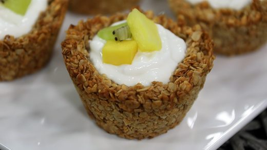 Tropical granola cups
