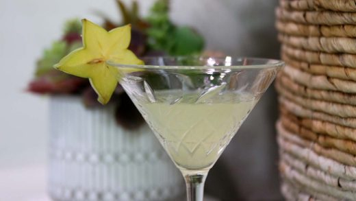 A star fruit martini is born
