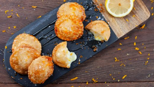 Honey and cheese fritters