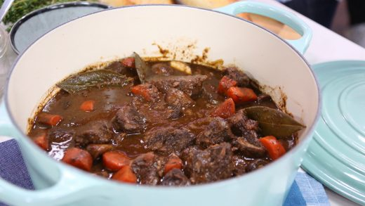 Beef bourguignon - French style beef stew
